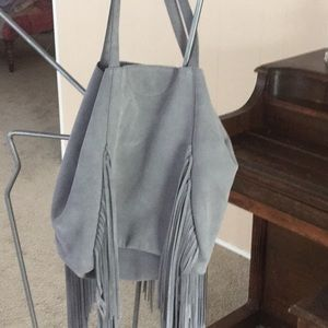 Handbags - Beautiful gray suede hobo
